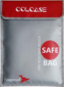 "Colcase fireproof document bag 11""x15"""