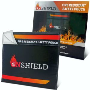 "OnShield Fire Resistant Document Bag 12""x11"""