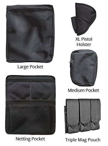 Stealth Molle gun safe door panel organizer pockets
