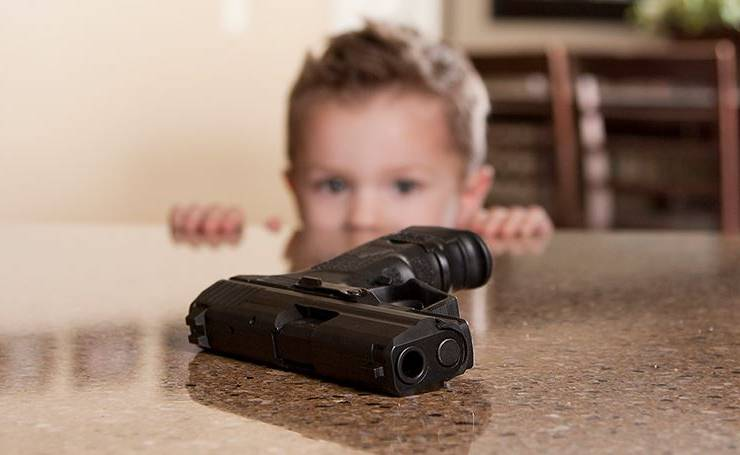 Child and gun